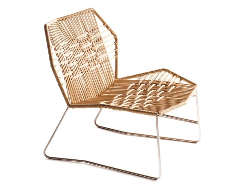 Polymer cord woven armchair TROPICALIA | Armchair by Moroso
