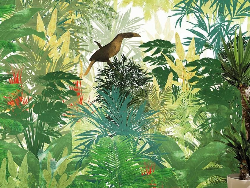 Tropical wallpaper, PVC free, eco, washable TROPICANA by Wallpepper
