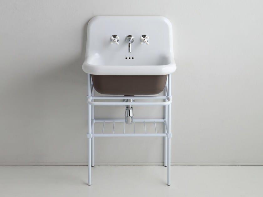 Lavabo a consolle singolo in ceramica TRUECOLORS | Lavabo a consolle by BLEU PROVENCE