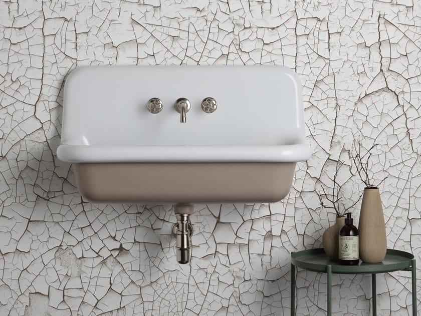 Lavabo rettangolare sospeso in ceramica TRUECOLORS TCL90 by BLEU PROVENCE