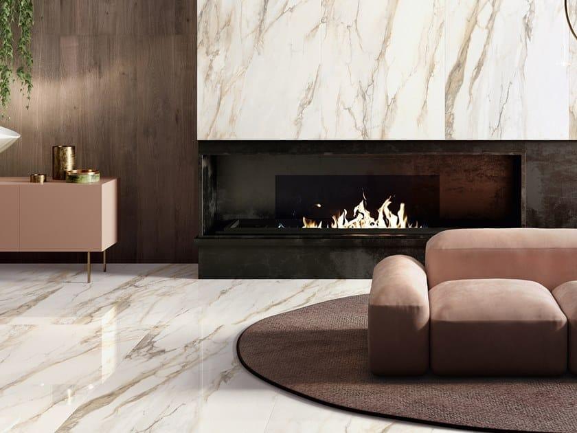 Pavimento/rivestimento in gres porcellanato effetto marmo TRUMARMI GOLD by CERAMICA SANT'AGOSTINO