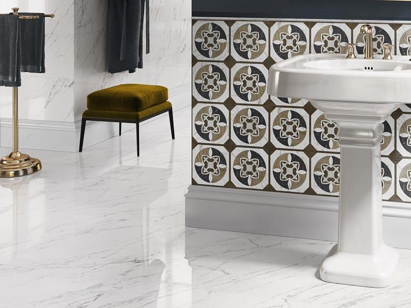 Pavimento/rivestimento in gres porcellanato effetto marmo TRUMARMI VENATINO by CERAMICA SANT'AGOSTINO