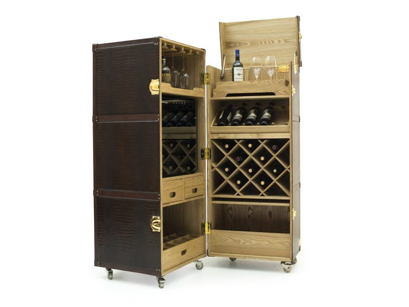 Mobile bar in pelle su ruote trunk mobile bar formitalia for Case mobili normativa 2016