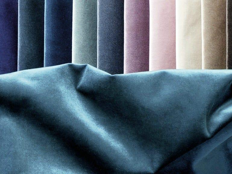 Solid-color velvet upholstery fabric TSAR by Élitis