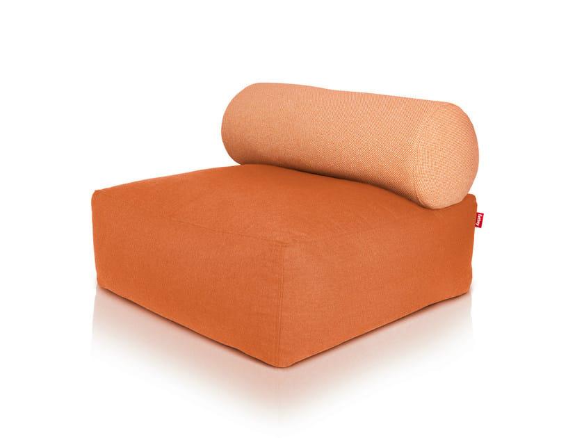 Upholstered cotton armchair TSJONGE ORANGE by Fatboy