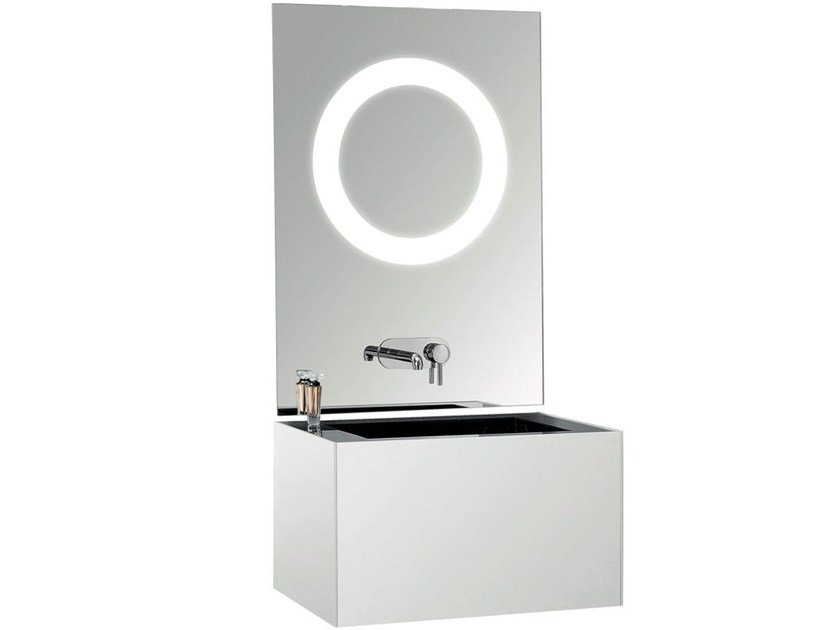Single marble washbasin countertop TSQ by Swiss Concepts
