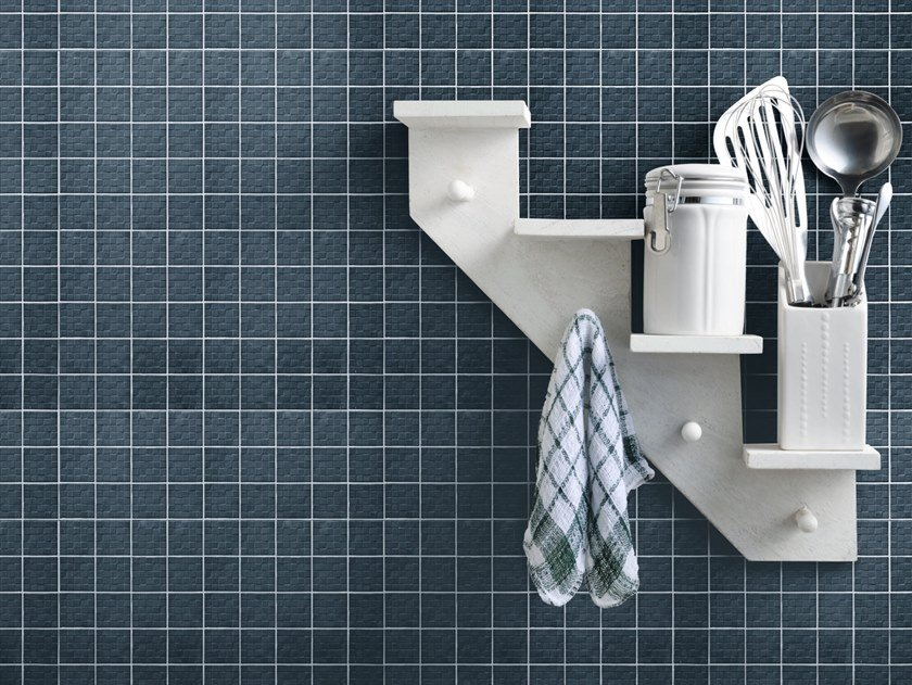 Indoor porcelain stoneware 3D Wall Cladding TSQUARE MOSAIC by Sartoria