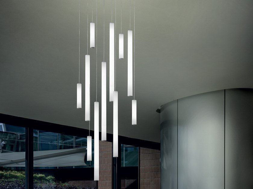 Lampada a sospensione a LED in polietilene TU-V by Linea Light Group