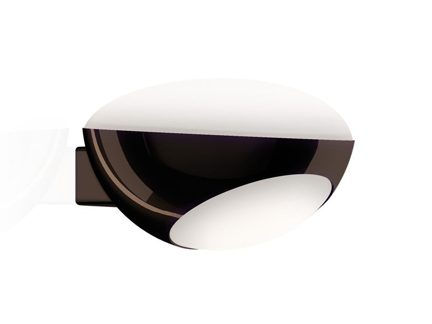 LED glass and aluminium wall lamp TUA by KUNDALINI