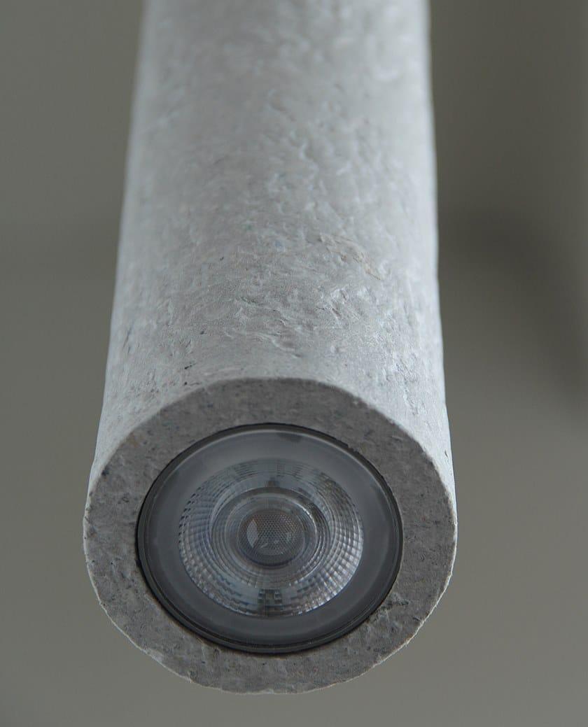 In Carta Riciclata Tuba3 Led Indi Lampada Sospensione A 3ALc4Rq5j