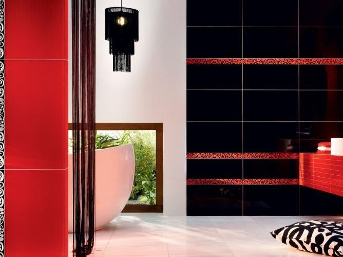Indoor wall tiles TUBADZIN COLOUR BLACK&RED by tubadzin