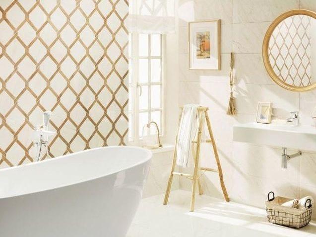 Pavimento/rivestimento in gres porcellanato effetto marmo TUBADZIN LARDA | Pavimento/rivestimento by tubadzin