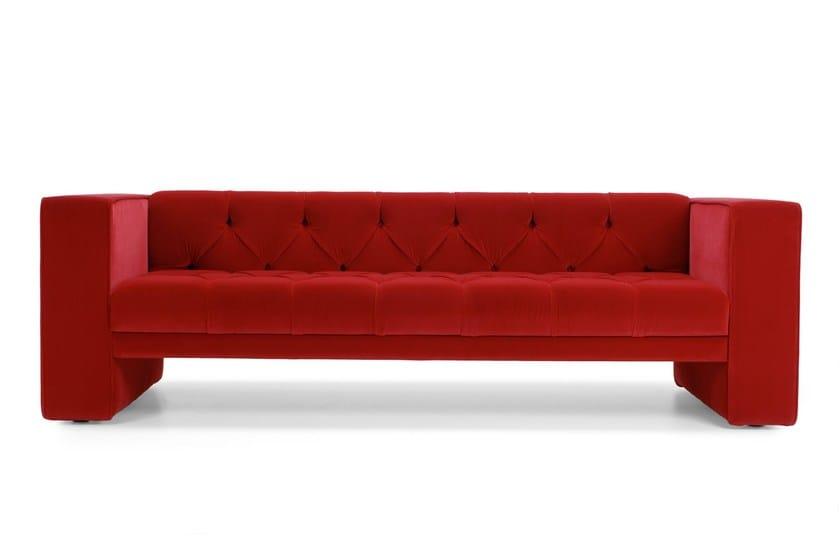 3 seater fabric sofa TUBBY | Tufted sofa by Domingo Salotti