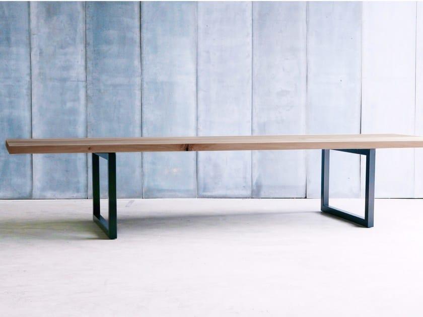 Custom oak table TUBE 6CM MTM by Heerenhuis