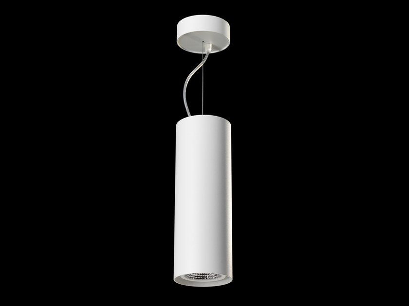 LED direct light powder coated aluminium pendant lamp TUBE AIR by LUNOO