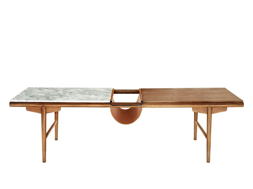 Coffee table with integrated magazine rack TUBE by HC28