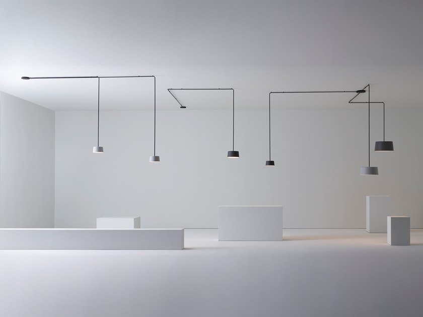 Lampada a sospensione a LED in alluminio TUBE | Lampada a sospensione by Vibia