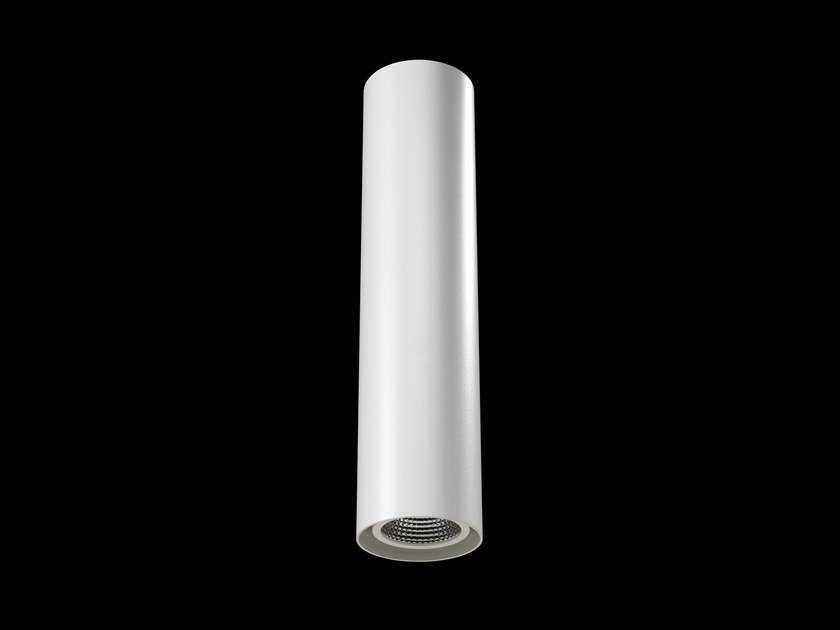 LED direct light powder coated aluminium ceiling lamp TUBE UP by LUNOO