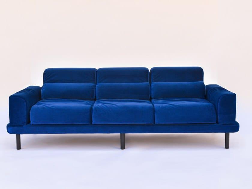 3 seater velvet sofa TUBULAR | 3 seater sofa by RINOCCA