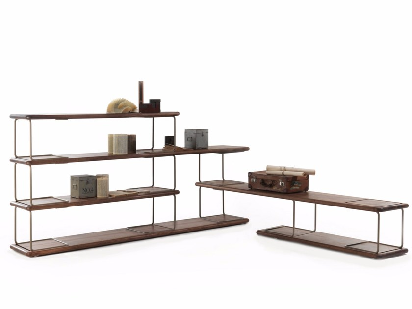 Open double-sided bookcase TUBULAR | Bookcase by Riva 1920