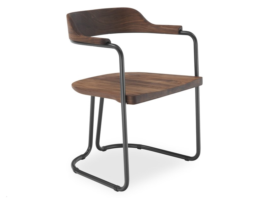 Merveilleux Cantilever Solid Wood Chair TUBULAR | Chair By Riva 1920