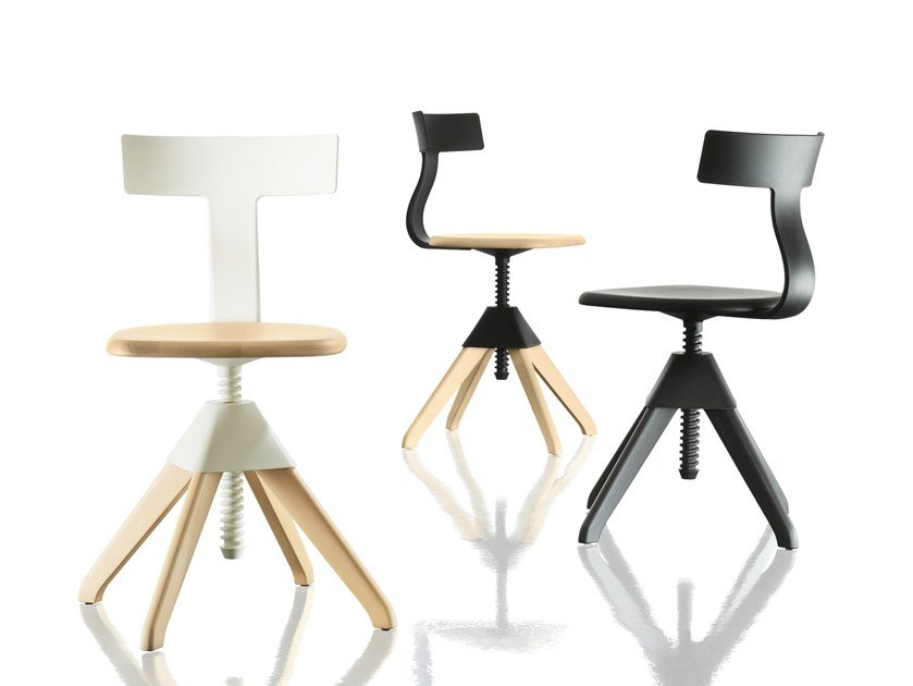 Height-adjustable chair TUFFY – THE WILD BUNCH by Magis