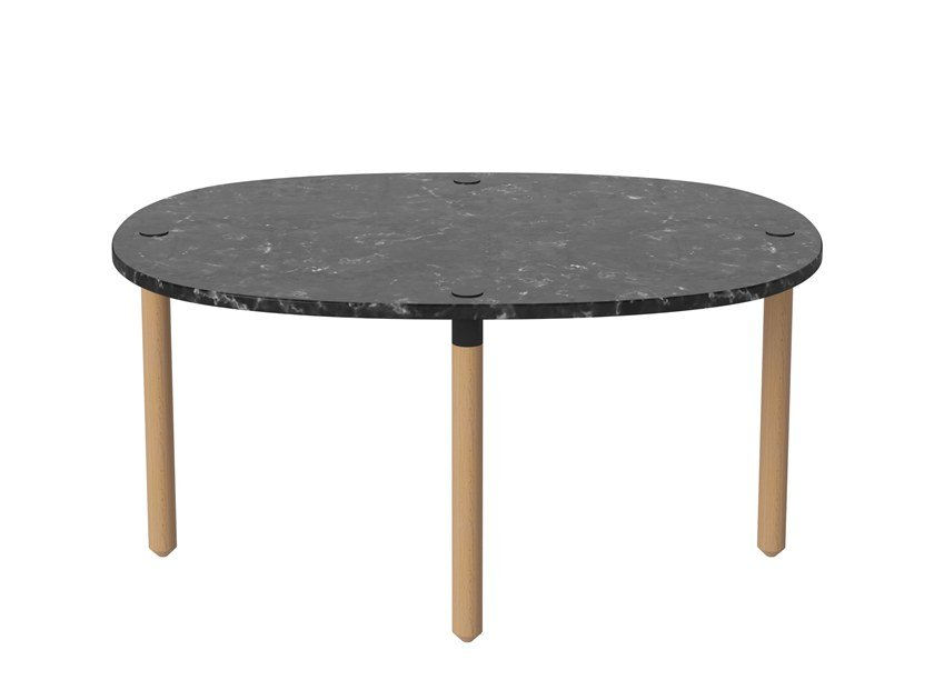 Oval marble coffee table TUK | Coffee table by Bolia