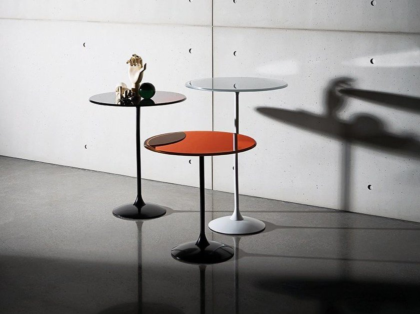 Round glass coffee table TULIP ROUND by Sovet italia