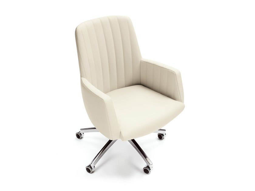 Medium back leather executive chair TULIP | Swivel executive chair by ESTEL GROUP