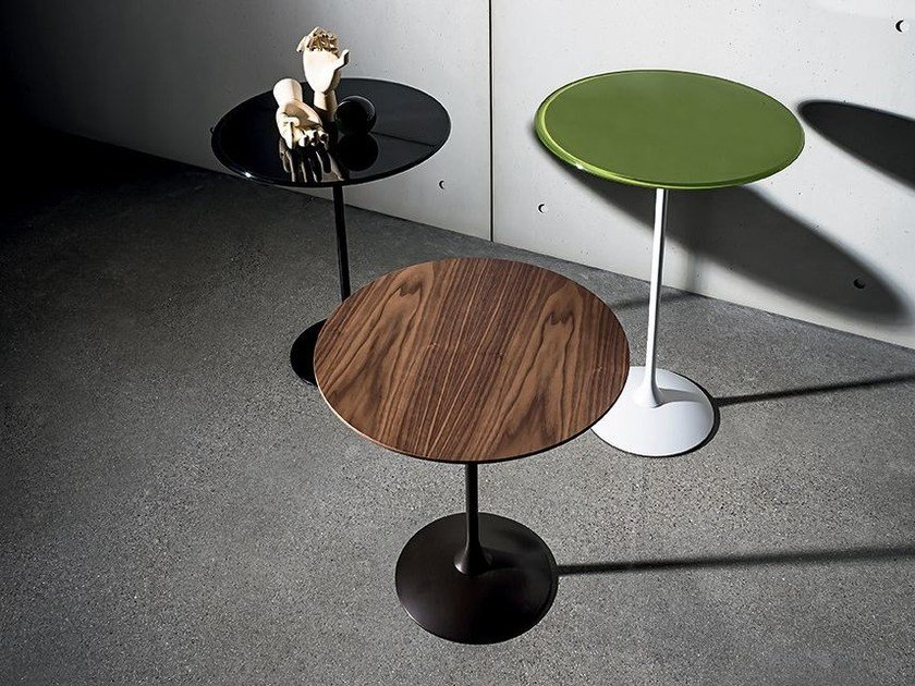 Contemporary Style Wooden Coffee Table TULIP WOOD | Round Coffee Table By  Sovet Italia