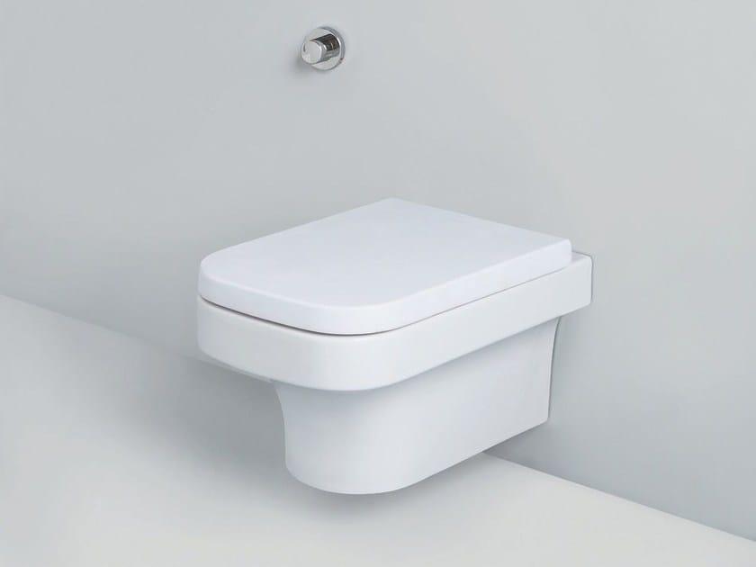 Wall-hung ceramic toilet TULIP   Wall-hung toilet by AZZURRA sanitari