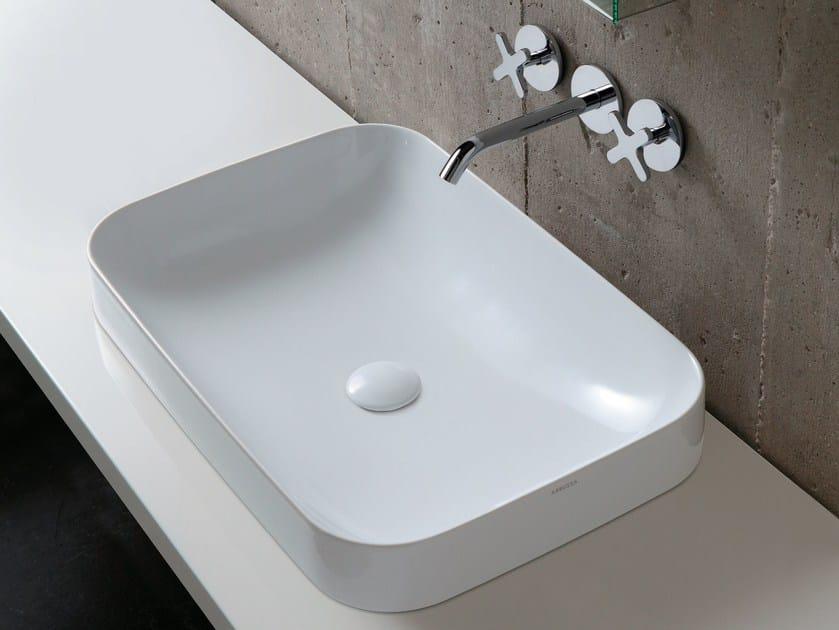 Countertop ceramic washbasin TULIP | Countertop washbasin by AZZURRA sanitari