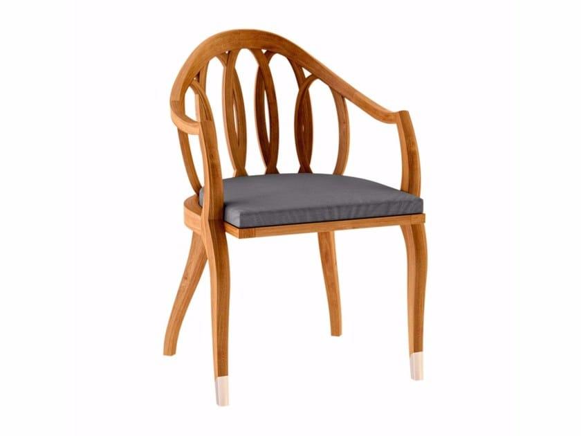 Sedia da giardino in teak con braccioli TULIPE | Sedia con braccioli by ASTELLO