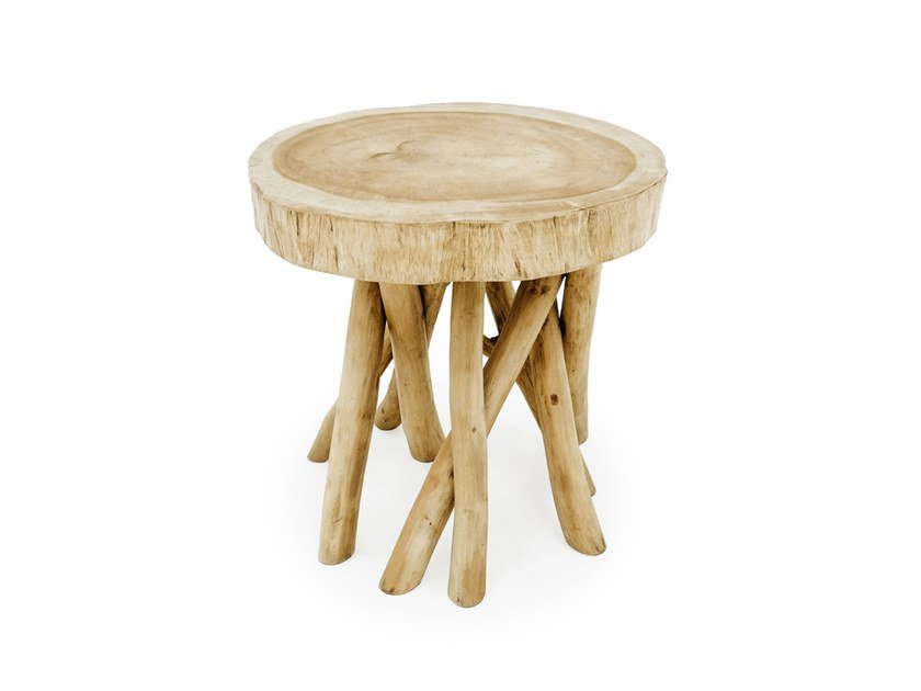 Round teak coffee table TULUM | Round coffee table by Bazar Bizar