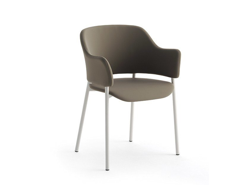 Upholstered chair with armrests TUNDRA | Chair with armrests by arrmet