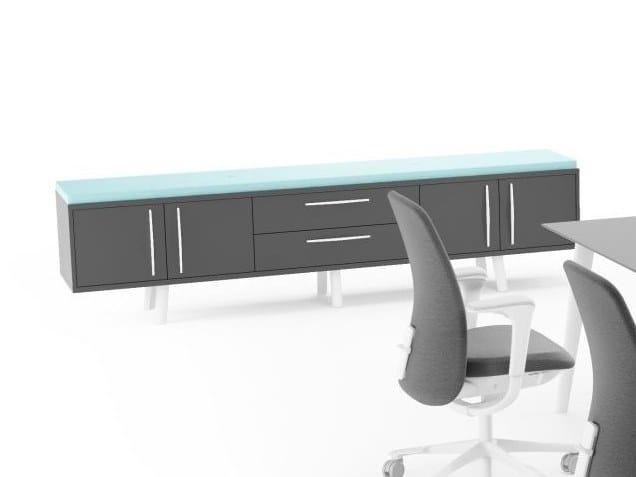 Wooden office storage unit TUNDRA | Office storage unit by FURNIKO