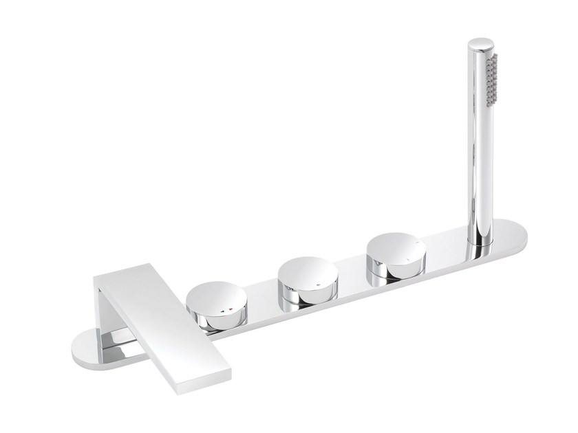 Thermostatic bathtub set with hand shower TUNE | Bathtub set by rvb