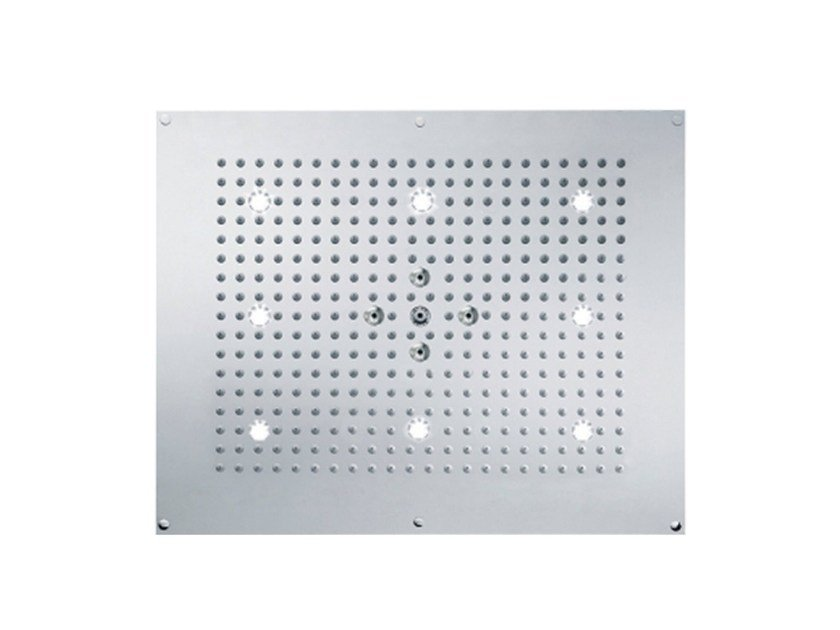 2-spray rain shower with built-in lights TUNE | Overhead shower with built-in lights by rvb