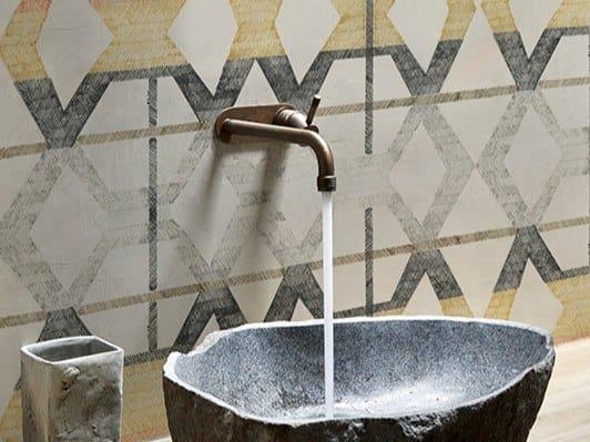 Carta da parati geometrica impermeabile lavabile TUNING by Wall&decò