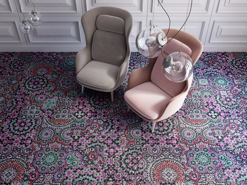 Patterned plastic carpet tiles TUNIS by OBJECT CARPET GmbH