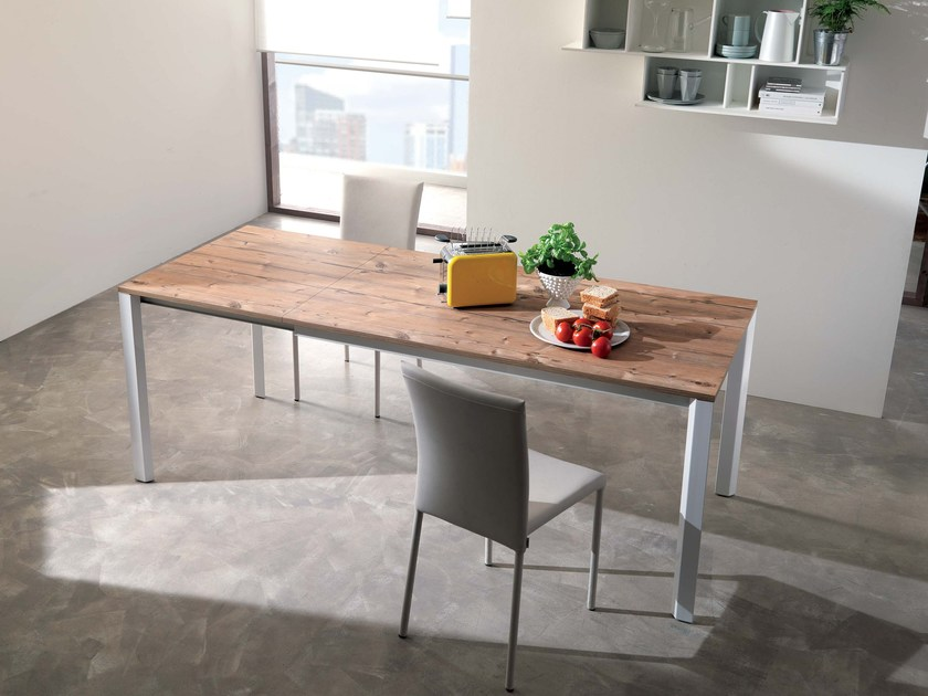 Extending wooden table TUNNY by Ozzio Italia