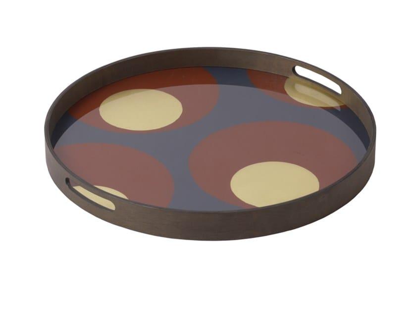 Round glass tray TURKISH DOTS by Notre Monde