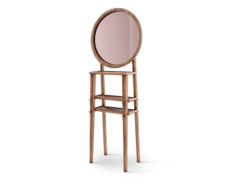 Freestanding wooden mirror TURNER by Wood Tailors Club