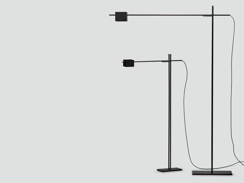 Adjustable metal floor lamp TURNOVER by da a