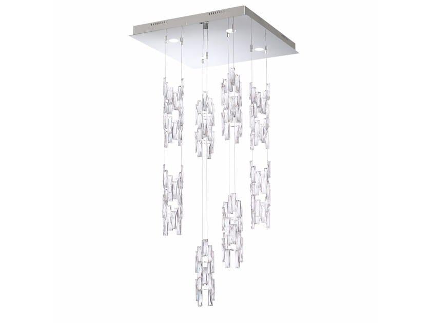 Pendant lamp with Swarovski® Crystals TURNS by Swarovski