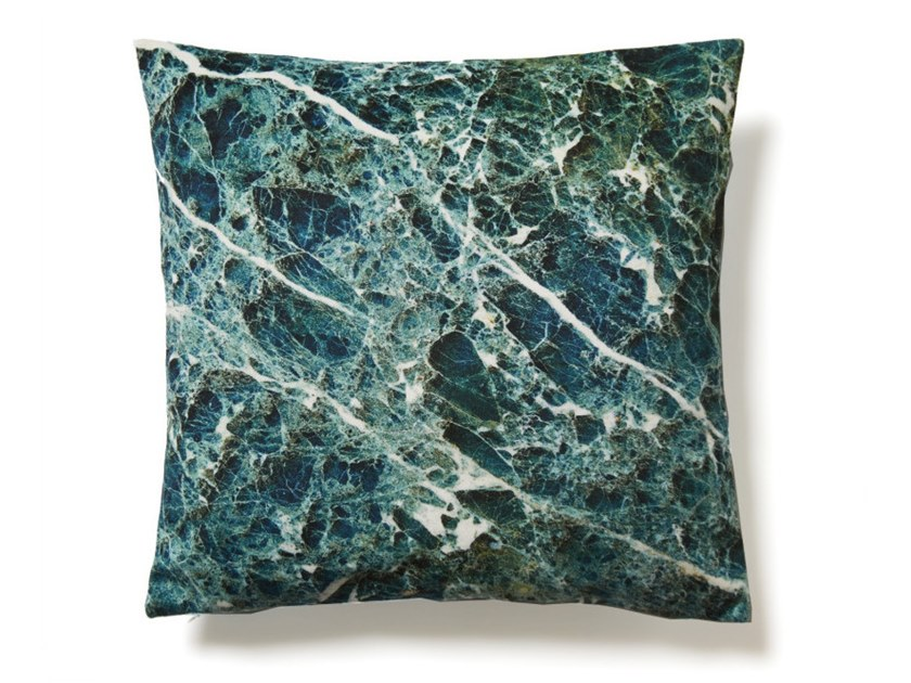 Square polyester cushion TURQUOISE EMPERADOR | Cushion by Koziel