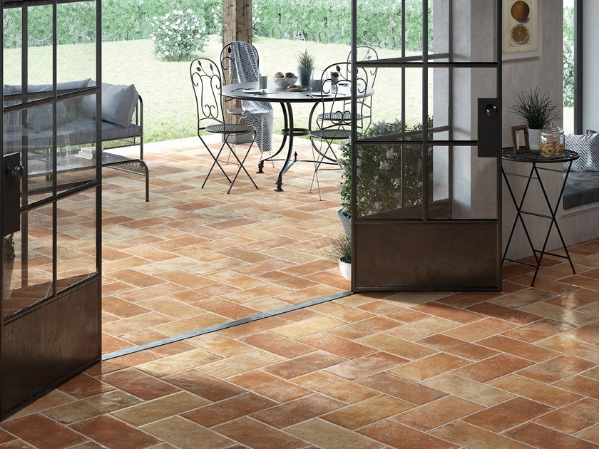 Indoor/outdoor wall/floor tiles with terracotta effect TUSCANY by Ceramica Rondine