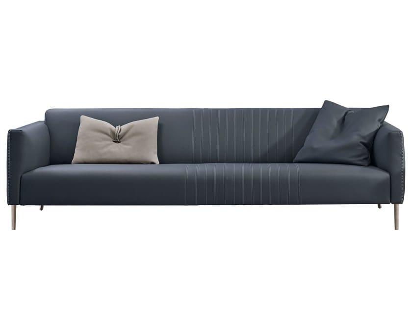 Sectional leather sofa TUXEDO by Gamma Arredamenti