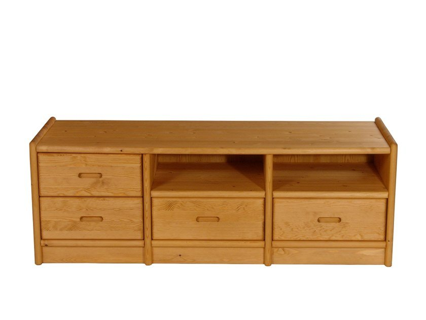 Wooden TV cabinet with drawers TV cabinet by Dyrlund