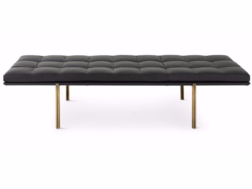 Tufted leather day bed TWELVE-DAY BED by Gallotti&Radice